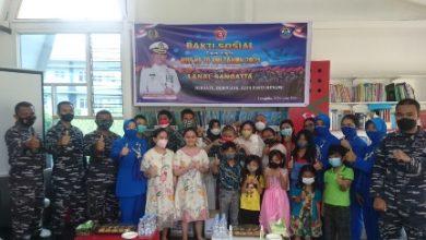 Photo of Danlanal Sangatta Dan Jalasenastri Kunjungi Dan Beri Dukungan Untuk ABK SLB  Bahasa Hati